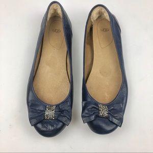 Ugg Leather Ballet Flats